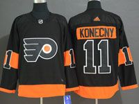 Mens Philadelphia Flyers #11 Travis Konecny Black Alternate Adidas Jersey