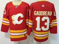 Mens Adidas Nhl Calgary Flames #13 Johnny Gaudreau Red Alternate Jersey