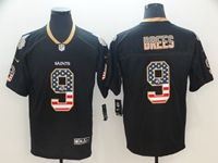 Mens Nfl New Orleans Saints #9 Drew Brees Usa Flag Fashion Black Vapor Untouchable Limited Jersey