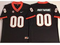 Mens Ncaa Nfl Georgia Bulldogs Custom Made Black Vapor Untouchable Limited Jersey