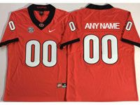 Mens Ncaa Nfl Georgia Bulldogs Custom Made Red Vapor Untouchable Limited Jersey