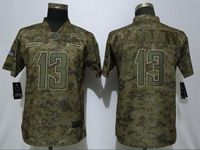 Mens Women Nfl Los Angeles Chargers #13 Keenan Allen 2018 Camo Salute To Service Limited Jersey