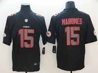 Mens Nfl Kansas City Chiefs #15 Patrick Mahomes Fashion Impact Black Vapor Untouchable Red Border Limited Jersey