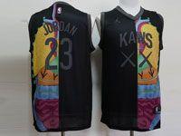 Mens Nba Chicago Bulls #23 Michael Jordan Kaws X Jordan X Nba Swingman Hardwood Classics Mesh Jersey