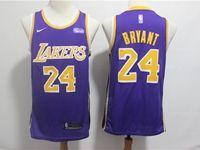 Mens 2018-19 Nba Los Angeles Lakers #24 Kobe Bryant Purple Nike Swingman Jersey