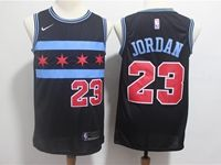Mens 2018-19 Nba Chicago Bulls #23 Michael Jordan Black Nike City Edition Jersey