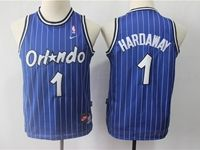 Youth Nba Orlando Magic #1 Penny Hardaway Blue Stripe Hardwood Classics Jersey