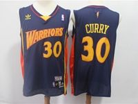 Mens Nba Golden State Warriors #30 Stephen Curry Dark Blue Mitchell&ness Jersey