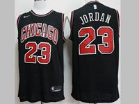 Mens New Nba Chicago Bulls #23 Michael Jordan Black Nike Jersey
