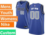Mens Nba Dallas Mavericks Custom Made Blue Swingman Nike Jersey
