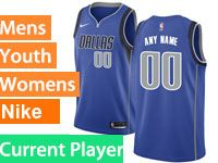 Mens Nba Dallas Mavericks Current Player Blue Swingman Nike Jersey