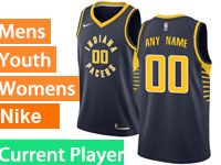 Mens Nba Indiana Pacers Current Player Blue Swingman Nike Jersey