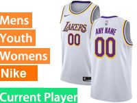 Mens Women Youth Nba Los Angeles Lakers Current Player White Nike Swingman Jersey