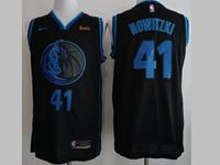Mens Nba Dallas Mavericks #41 Dirk Nowitzki Black 2018-19 Nike City Edition Jersey
