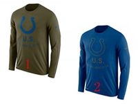 Mens Nfl Indianapolis Colts Salute To Service Sideline Legend Performance Long Sleeve T-shirt 2 Colors