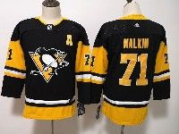 Youth Women Nhl Pittsburgh Penguins #71 Evgeni Malkin Black Adidas Jersey