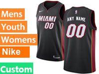Mens Nba Miami Heat Custom Made Black Miami Nike Swingman Jersey