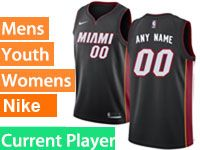 Mens Nba Miami Heat Current Player Black Miami Nike Swingman Jersey