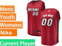 Mens Nba Miami Heat Current Player Red Miami Nike Swingman Jersey