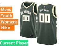 Mens Womens Youth Nba Milwaukee Bucks Current Player Green Nike City Edition Swingman Jersey