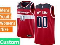 Mens Womens Youth Nba Washington Wizards Custom Made Red Swingman Nike Jersey