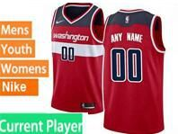 Mens Womens Youth Nba Washington Wizards Current Player Red Swingman Nike Jersey