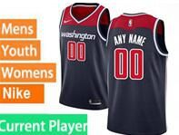 Mens Womens Youth Nba Washington Wizards Current Player Blue Swingman Nike Jersey