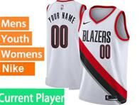 Mens Womens Youth Nba Portland Trail Blazers Current Player White Nike Jersey