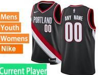 Mens Womens Youth Nba Portland Trail Blazers Current Player Black Nike Jersey