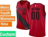 Mens Nba Portland Trail Blazers Custom Made Red Nike Jersey