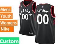 Mens Womens Youth 2018-2019 Nba Toronto Raptors Custom Made Black Nike Swingman Jersey