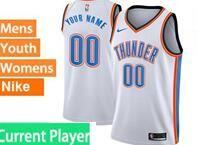 Mens Womens Youth 2017-18 Nba Oklahoma City Thunder Current Player White Nike Swingman Jersey