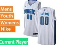 Mens Womens Youth Nba Orlando Magic Current Player White Stripe Swingman Jersey