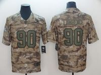 Mens  Nfl Dallas Cowboys #90 Demarcus Lawrence 2018 Camo Salute To Service Limited Jersey
