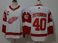 Mens Nhl Detroit Red Wings #40 Henrik Zetterberg Adidas White Jersey