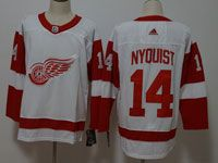 Mens Nhl Detroit Red Wings #14 Gustav Nyquist Adidas White Jersey
