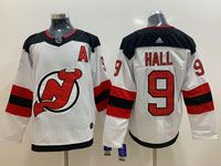 Mens Nhl New Jersey Devils #9 Taylor Hall White Adidas Jersey