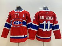 Women Youth Montreal Canadiens #11 Gallagher Red Home Premier Adidas Jersey