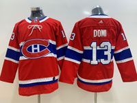 Women Youth Montreal Canadiens #13 Max Domi Red Home Premier Adidas Jersey