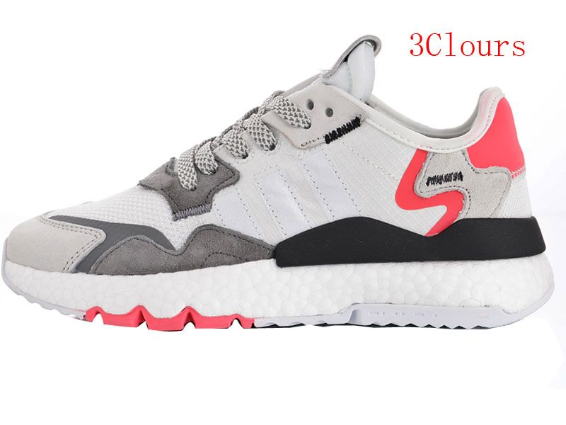 Men And Women Adidas Originals 2019 Nite Jogger Boost Running Shoes 3 Colours