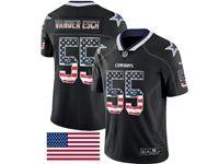 Mens Dallas Cowboys #55 Leighton Vander Esch Usa Flag Fashion Black Vapor Untouchable Limited Jersey