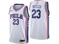 Mens Nba Philadelphia 76ers #23 Jimmy Butler White Swingman Nike Jersey