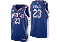 Mens Nba Philadelphia 76ers #23 Jimmy Butler Blue Swingman Nike Jersey
