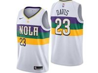Mens 2018-19 Nba New Orleans Pelicans #23 Anthony Davis White City Edition Swingman Nike Jerseys