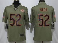 Mens Nfl Chicago Bears #52 Khalil Mack Green Olive Salute To Service Limited Nike Jersey