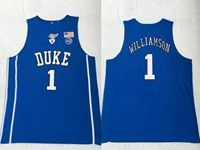 Mens Ncaa Nba Duke Blue Devils #1 Williamson Blue Jersey