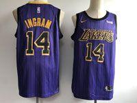 Mens Nba Los Angeles Lakers #14 Brandon Ingram Purple Nike 2019 City Edition Jersey