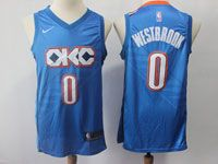 Mens Nba Oklahoma City Thunder #0 Russell Westbrook Nike City Edition Swingman Jersey