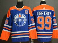 Mens Adidas Nhl Edmonton Oilers #99 Wayne Gretzky Royal Blue Alternate Jersey