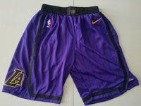 Mens Nba Los Angeles Lakers Purple Nike 2019 City Edition Shorts